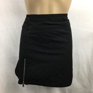 Laundry black Quilted mini skirt 6